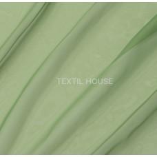 Тюль вуаль однотонная  зеленая трава