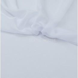Тюль вуаль однотонная белая