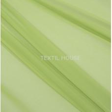 Тюль вуаль однотон. зеленое яблоко