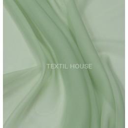 Тюль вуаль однотонная  бледно зеленая