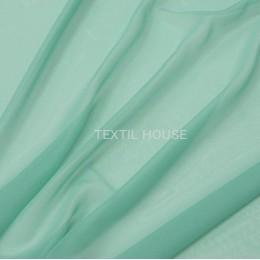 Тюль вуаль однотонная зеленая бирюза
