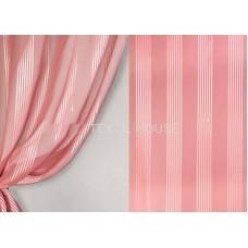 Вуаль вертикальная полоска,темно-розовый 2.80 м в. с утяж.