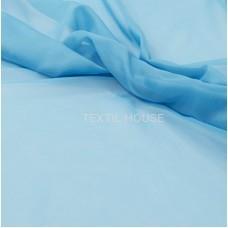 Тюль вуаль однотон. голубая лагуна