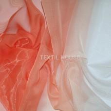 Тюль микровуаль Карнавал оранжево-розовый 2,8 м высота