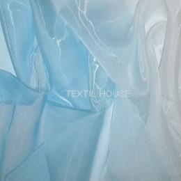 Тюль микровуаль Карнавал голубой 2,8 м высота