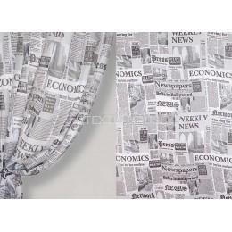 Тюль вуаль газета черно-белая