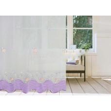 Тюль вуаль цветы-бабочки высота 10891-1-1/170 VB