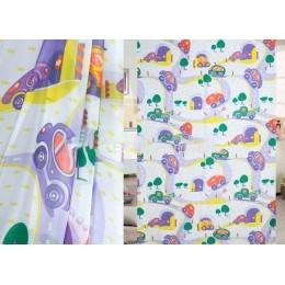 Тюль вуаль детская веселые машинки