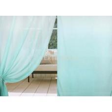 Тюль вуаль с переходом цвета голубая бирюза