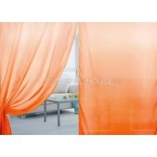 Тюль вуаль с переходом цвета оранжевый