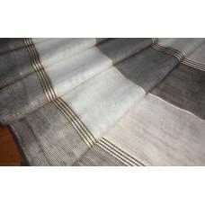 Гардина горизонтальная полоска Макара серый